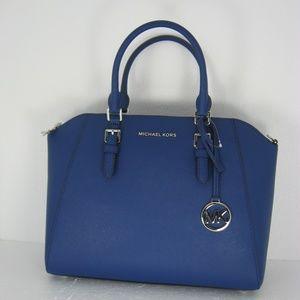 Michael Kors Ciara Large TZ Satchel Sapphire 0368